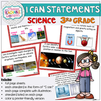 I Can Statements 3rd Grade TEKS Science