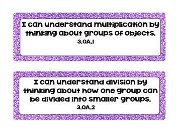 """I Can"" Statements( 3rd grade)- Math & ELA"