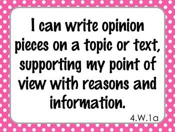 I Can Statements (4TH GRADE) - ELA printables - {RL, RI, RF, SL, LA, W}