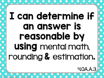 I Can Statements (4TH GRADE MATH) - Kid-Friendly Posters - {OA, NBT, NF, MD & G}