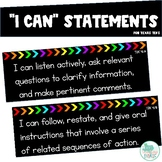 I Can Statements 4th Grade ELAR