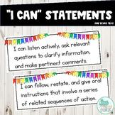 I Can Statements 4th Grade ELAR