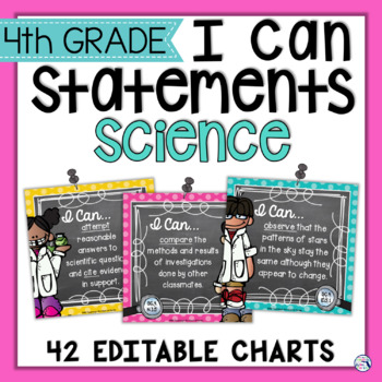 I Can Statements 4th Grade SCIENCE {Editable} - Florida