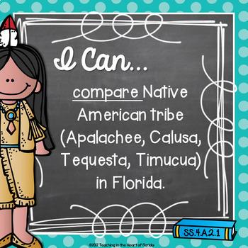 I Can Statements {Editable} - 4th Gr. SOCIAL STUDIES - Florida