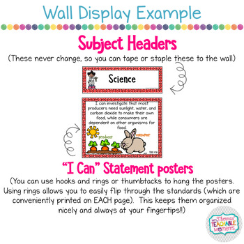 I Can Statements 4th Grade TEKS SCIENCE