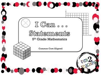 I Can Statements (5th Grade Mathematics)