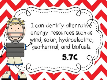 I Can Statements-- 5th Grade Science TEKS- Baseball themed