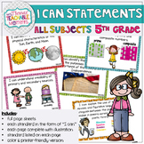 5th Grade TEKS I Can Statements Bundle All Subjects