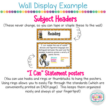 5th Grade TEKS I Can Statements Reading