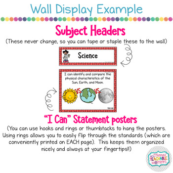 5th Grade TEKS I Can Statements Science