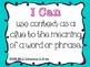 I Can Statements- 6th Grade Language: Common Core