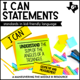 I Can Statements 6th Grade Math - TEKS