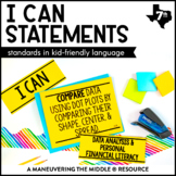 I Can Statements 7th Grade Math - TEKS