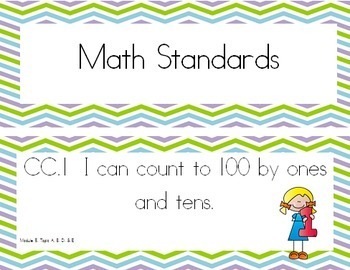 """""""I Can"""" Statements Aligned with EngageNY Math Kindergarten"""