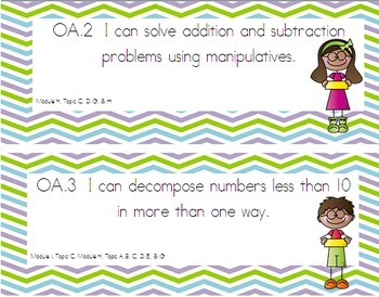 """I Can"" Statements Aligned with EngageNY Math Kindergarten"