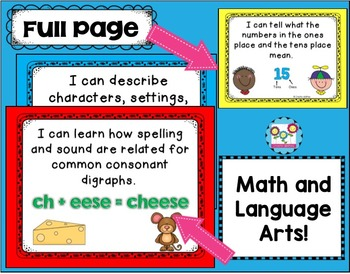 I Can Statements Bundle 1st Grade NO CCSS Tagging