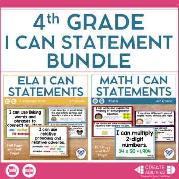 I Can Statements Bundle 4th Grade