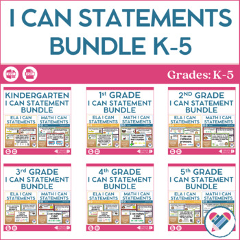 I Can Statements Bundle K-5