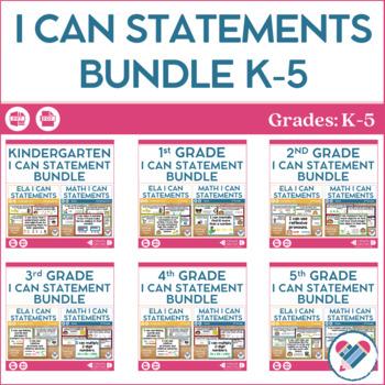 I Can Statements Bundle K-5