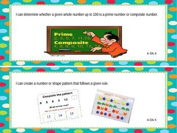 """4th Grade """"I Can"""" Common Core Standards"""