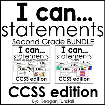I Can Statements CCSS Second Grade Bundle