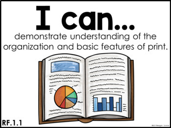 I Can Statements CCSS edition First Grade