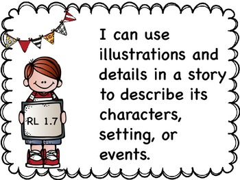 First Grade Common Core  I CAN STATEMENTS {ELA & MATH}
