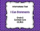 I Can Statements Common Core Grade 5 ELA and Math Bundle