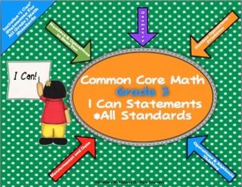 I Can Statements Common Core Math Grade 3