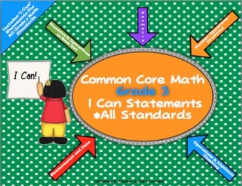 I Can Statements Common Core Math Grade 3