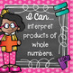 I Can Statements 3rd Grade MATH {Editable} - Chalkboard & Polka Dot