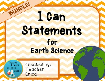 I Can Statements Earth Science- BUNDLE