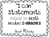I Can Statements Engage NY Math Module 5 Grade 2