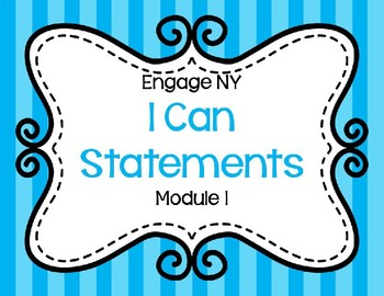 Focus Board I Can Statements: Engage NY Module 1