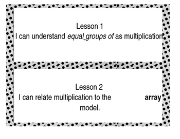 I Can Statements Engage NY Module 1 Math 3rd Grade