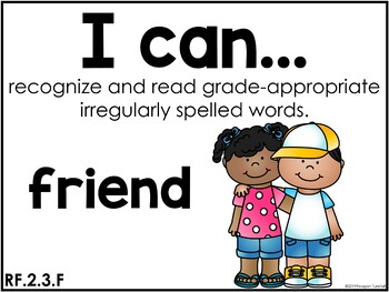 I Can Statements English Language Arts and Reading CCSS edition Second Grade