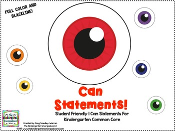I Can Statements!  Eye Can!