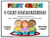 I Can Statements FIRST GRADE Common Core