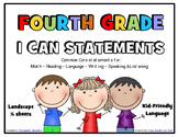 I Can Statements FOURTH GRADE Common Core