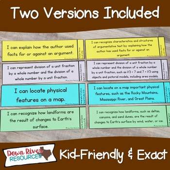 I Can Statements Fifth Grade TEKS System {All Fifth Grade Standards}