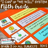 I Can Statements Fifth Grade TEKS System BUNDLE {All Fifth