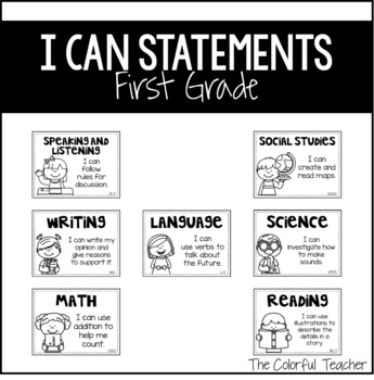 I Can Statements: First Grade