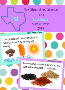 First Grade New Science Streamlined TEKS- I Can Statements
