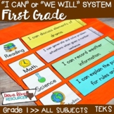 I Can Statements First Grade TEKS System BUNDLE {All First