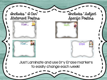 Rustic Farmhouse I Can Statements & Focus Wall Posters and Banners