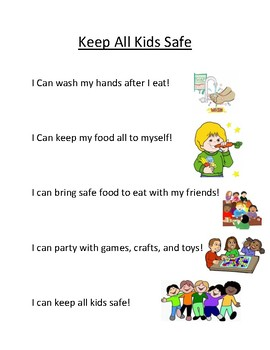 I Can Statements For Keeping All Kids Safe - Food Allergies
