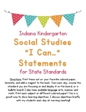 I Can Statements For Kindergarten Social Studies Indiana S