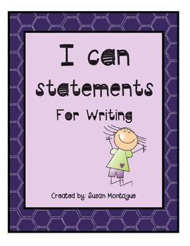 I Can Statements For Writing