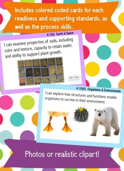 I Can Statements- Fourth Grade New Science Streamlined TEKS
