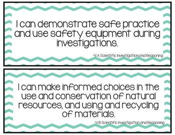 I Can Statements-Fourth Grade Science TEKS